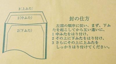古い現金書留封筒の書き方4