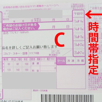 クロネコヤマト宅急便伝票の品名の書き方