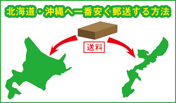 北海道、沖縄へ一番安く郵送する方法