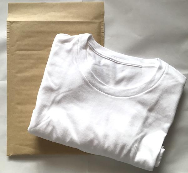 Tシャツをクッション封筒で梱包