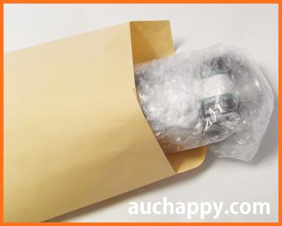 ベルトを封筒に入れて郵送する。