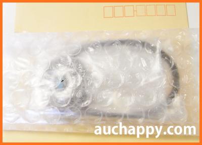 ヘアゴムをプチプチで包みます。