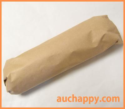 折りたたみ傘をクラフト紙で包んで梱包完了