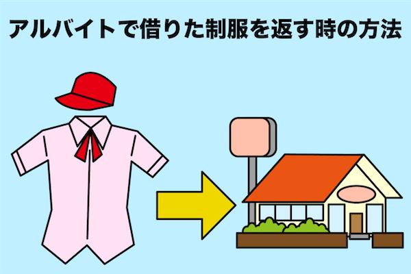 アルバイトの制服を返却で郵送する方法