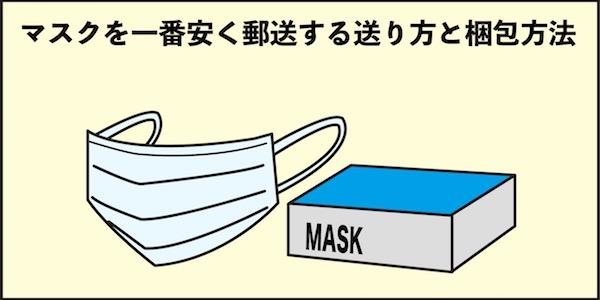 マスクを郵送する送り方と梱包方法
