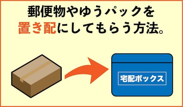 郵便物やゆうパックを置き配にしてもらう方法
