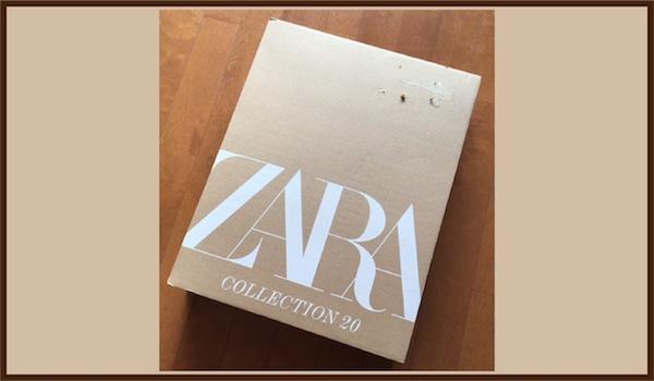 ZARAネット通販の箱