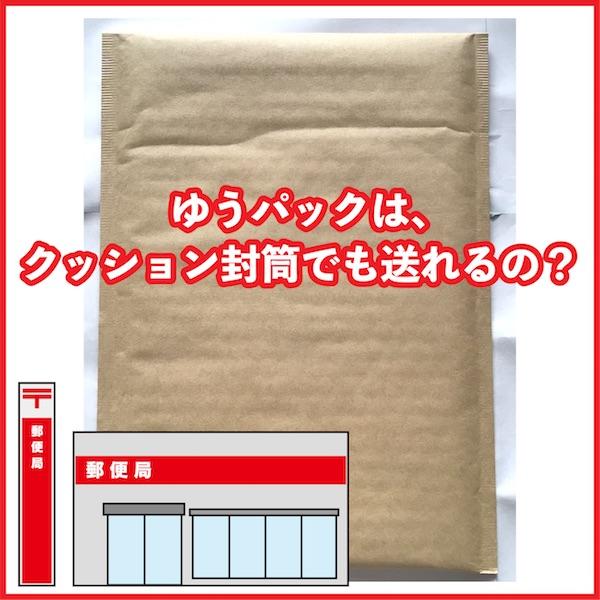 ゆうパックはクッション封筒でも送れるの?