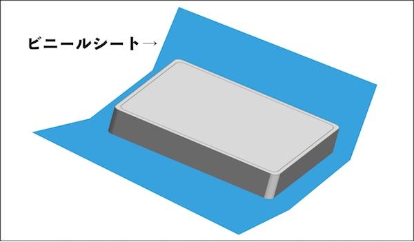 マットレスの梱包はブルーシートが便利