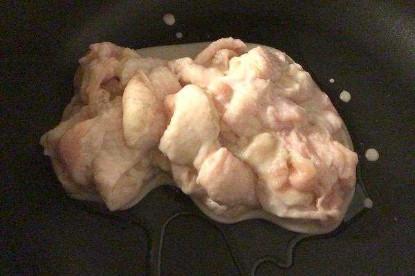 鶏皮節約レシピ:焼く