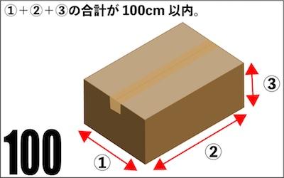 100サイズの荷物の測定