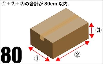 80サイズの荷物の測定