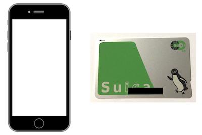 iPhoneSE2とSuicaカード