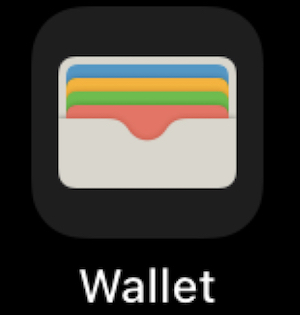 ホーム画面にある「Wallet」アプリ