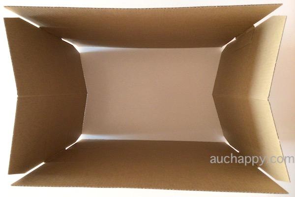 箱を広げます。