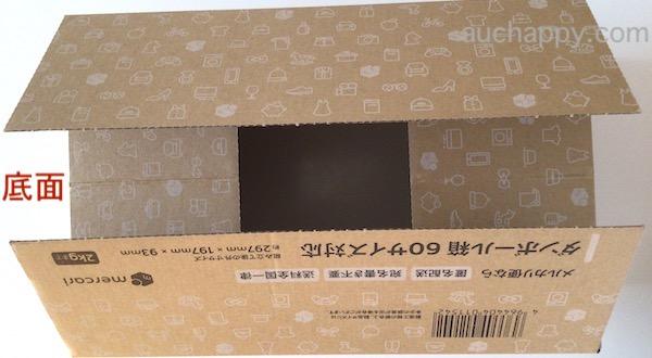 箱の底面を閉じます。